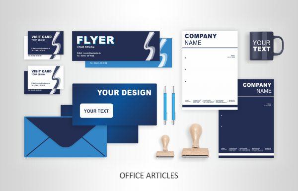 Werbung Geschäftspapiere und Stempel