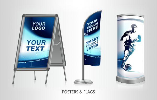 Werbung Öffentlichkeitsarbeit, Aufsteller und Flyer